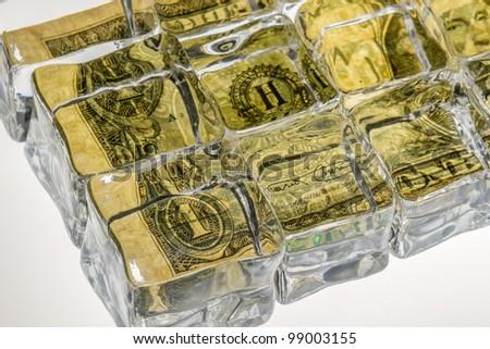 Frozen zone currency exchange dollar