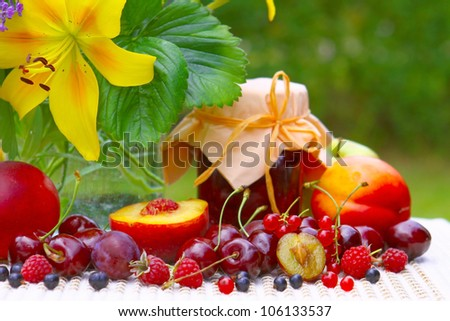 fruit and flower bouquet
