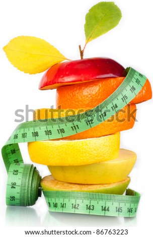 Fruit and measurement. A figure. A food.