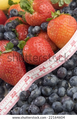 Fruit and tape measure