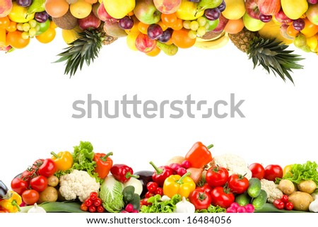 Fruit and vegetable borders #16484056