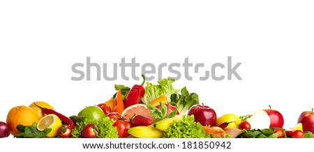 Fruit and vegetable borders  #181850942