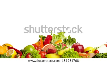 Fruit and vegetable borders  #181961768