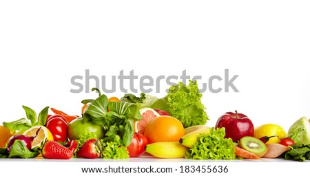 Fruit and vegetable borders  #183455636