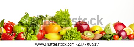 Fruit and vegetable borders  #207780619