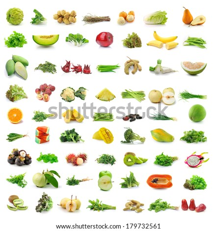 fruit and vegetable isolated on white background #179732561
