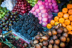 fruit and vegetable market in Lombok, Indonesia