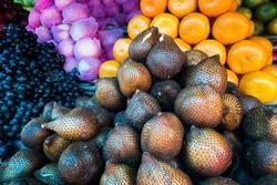 fruit and vegetable market in Senggigi, Lombok, Indonesia