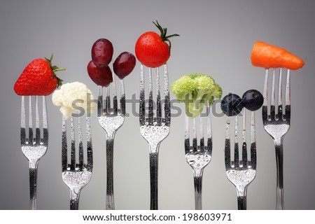 fruit and vegetable of silver...