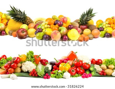 Fruit and vegetable selections
