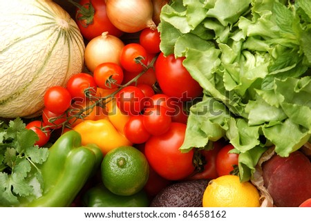 Fruit and vegetables from the market