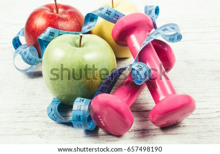 Fruit as part of a healthy diet - concept of healthy eating. #657498190