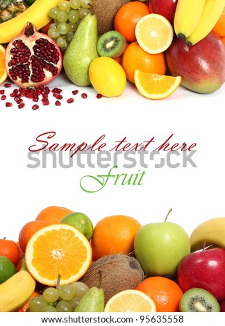 Fruit background text