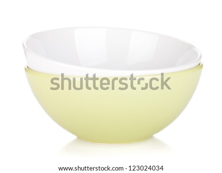 Fruit bowls. Isolated on white background