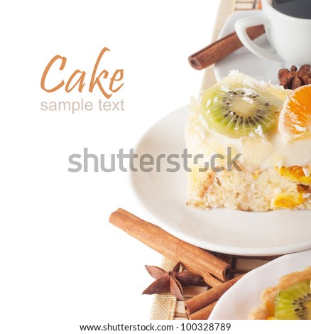 Fruit Cake and a cup of coffee