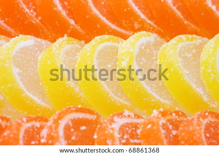 Fruit candy as a background