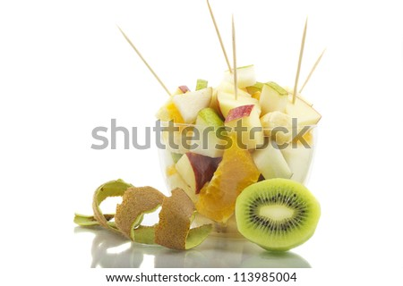 Fruit Cocktail With Toothpick