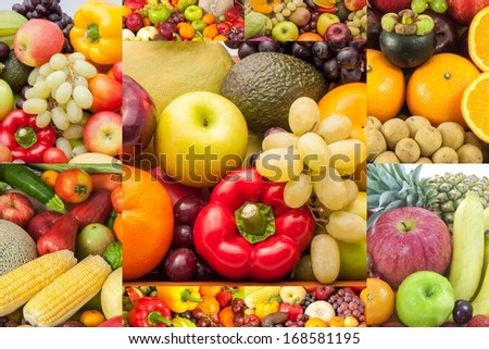 fruit collage #168581195