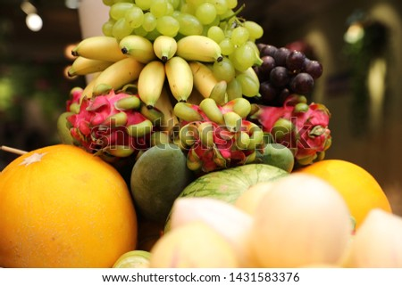Fruit combination, fruit platter,ginseng fruit