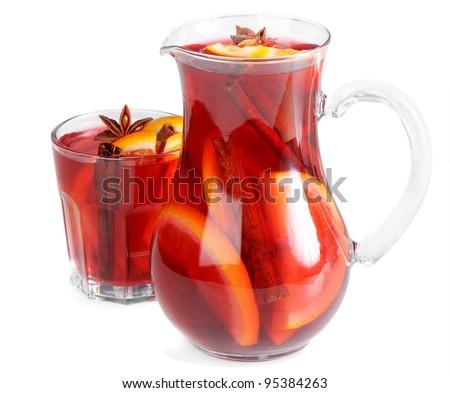 Fruit drink in jug