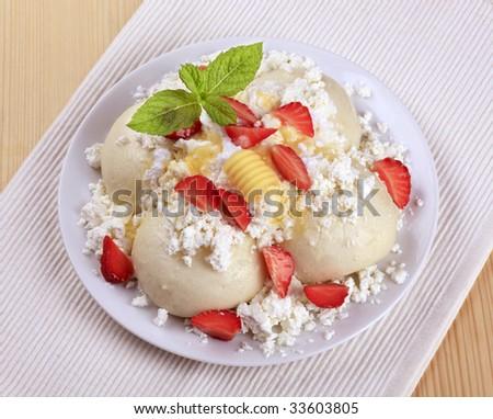 Fruit dumplings