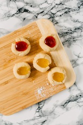 Fruit Filled Thumbprint Cookie Food Styling