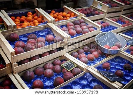 Fruit in Basket at Local Market