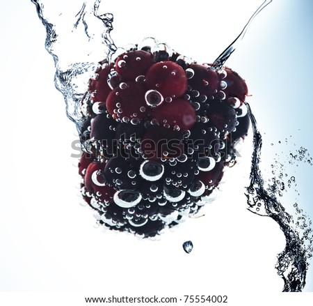 Fruit in pure water. Splash