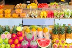 Fruit in street market ,taiwan