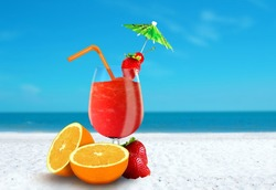 Fruit Juice at The Beach