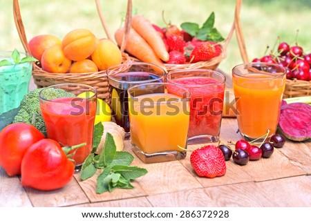 Fruit juice, vegetable juice and mix juices
