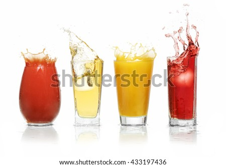Fruit juices splash #433197436