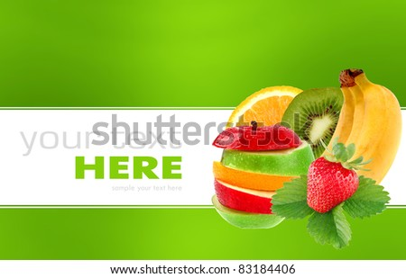 Fruit mix isolated on a background