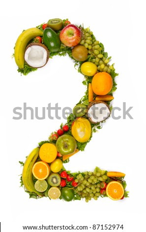 """Fruit number """"2"""" - stock photo"""