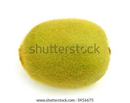 Fruit of kiwi, isolated against the white background.