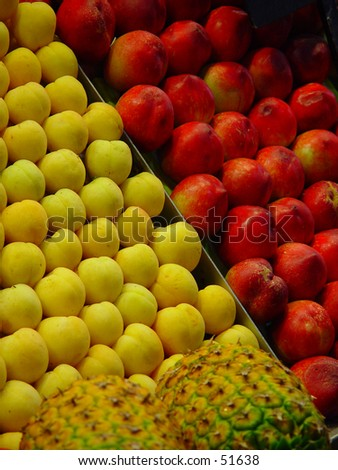 fruit on market stand - stock photo
