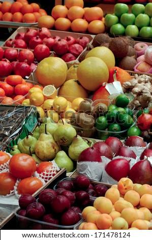 fruit on the counter bazaar #171478124