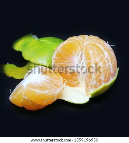 Fruit oranges (other names are Les Oranger, sweet oranges, citrus citrus, Citrus aurantium, Citrus maxima, retina oranges, mandarin) with a black background. #1559196950