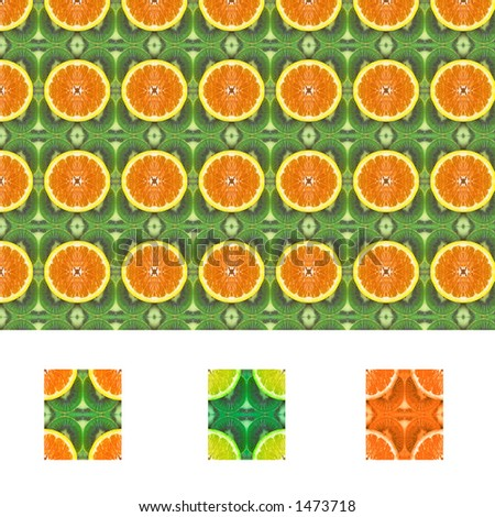 Fruit pattern seamless tiles with diffrent colors included