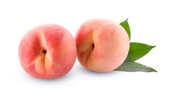 Fruit Peach isolated on white background