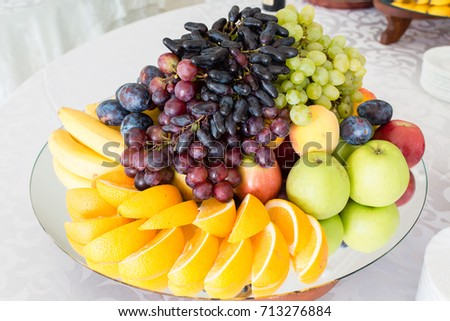 fruit platter for a large mirror #713276884