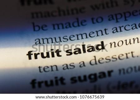 fruit salad fruit salad concept. #1076675639