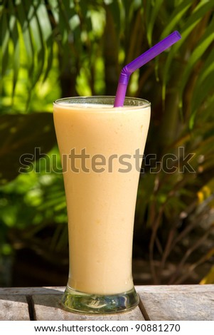 Fruit shake on the table