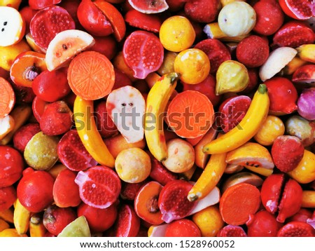 fruit shape soaps texture as very nice background