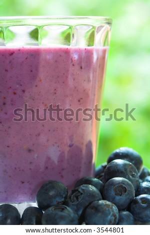 Fruit Smoothie drink with blueberries