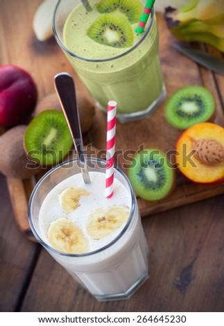 Fruit Smoothies. Selective focus, shallow DOF #264645230