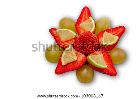 Fruit Star Isolated in white
