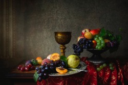 Fruit still life in Baroque style