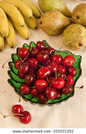 Fruit table with cherry
