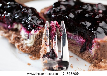 fruit tartlet with milk cheese filling and lots of blueberries, blueberries on tartlets with cottage cheese or butter cream, fruit delicious desserts